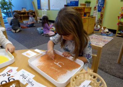 name practice in sand