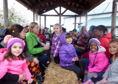 hay ride at pumpkin patch