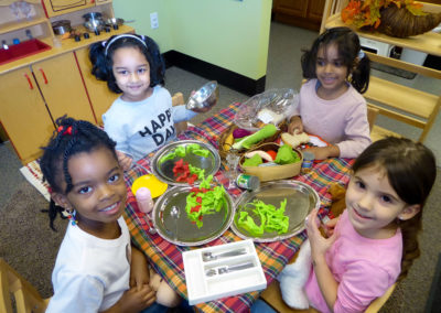 salad in pretend play